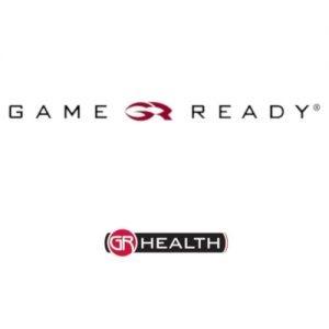 Game Ready Finland ja GR Healthin logot. Logoa klikkaamalla päädyt yrityksen kotisivuille.