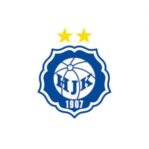 HJK:n logo. Logoa klikkaamalla päädyt HJK:n kotisivuille.